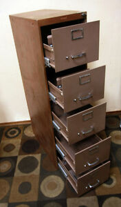LOCKING w/ key  Cole 5 Drawer Letter Sized Cabinet SEE VIDEO