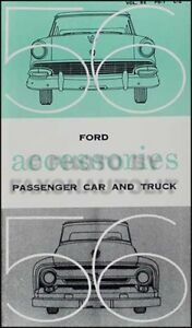 1956 Ford Accessories Manual... also FORD+ CHASSIS PARTS Catalog