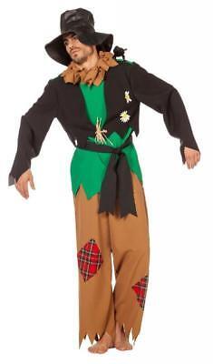 Vogelscheuche Kostüm Hexen Hexer Party Strohpuppenkostüm Halloween Anzug OZ Hut