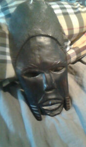 hand carved rare african ebony mask