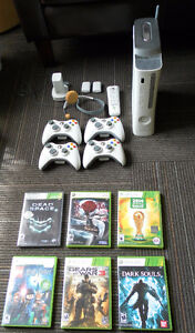 **XBox 360 in excellent condition/4 controllers/6 games/headset