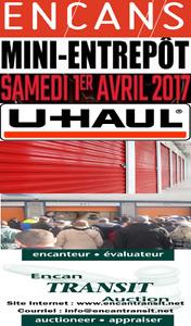 ENCANS DE MINI ENTREPÔTS CHEZ U-HAUL À QUÉBEC 1 AVRIL 2017