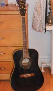 Black Ibanez Acoustic Guitar
