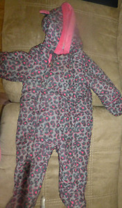 6-12 month babygirl snowsuit