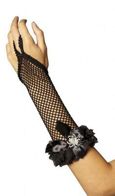 Handschuhe Armstulpen Spitze Netz Kostüm Kleid Spinne Hexe Gothic Damen - Spitze Kostüm Handschuhe