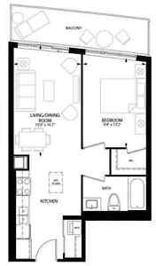 1 Bedroom Apartment at City Centre Condo, Kitchener for Jan 2017 Kitchener / Waterloo Kitchener Area image 10