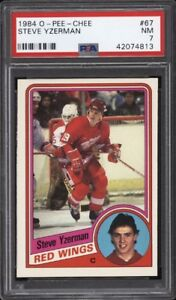STEVE YZERMAN .... 1984-85 O-Pee-Chee ROOKIE ... PSA NEAR MINT 7