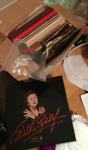 92 disques vinyle (variété de musique) pas de livraison