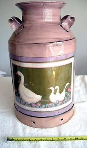 "Decorative Country Style ""Tole Painted"" Milk Can"