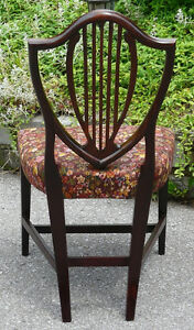 Georgian Mahogany Shield Back Chair, Antique Kingston Kingston Area image 3