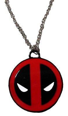 Marvel's Deadpool Mask Emblem Metal Pendant With Enamel Finish