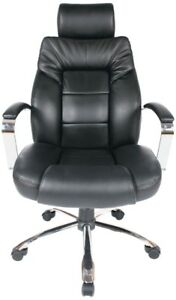 Executive Oversized Bonded Leather Chair, New