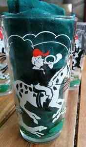 "Hazel Atlas ""Tally Ho"" Highball Glasses Bar-tique Midcentury Kitchener / Waterloo Kitchener Area image 1"