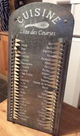 Shabby Chic class French Shopping List decoration
