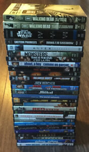 DVD's - 28 Movies and The Walking Dead Seasons 1 and 2