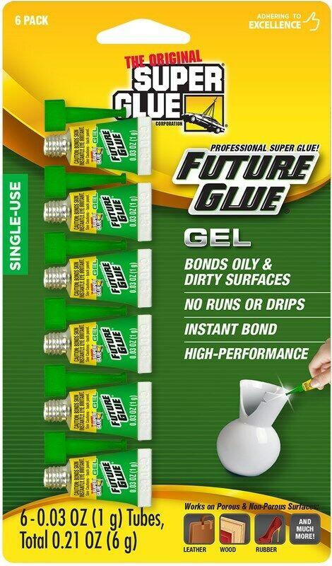 Super Glue Gel, 6-Pack, .03 oz tubes Adhesives & Tape