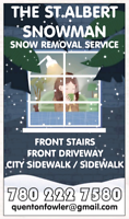 The St.Albert SnowMan Residential Snow Removal  **LOWEST RATES**