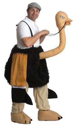 Strauß Kostüm Overall Reittier Straußenkostüm Herren Vogel Huckepack - Reittier Kostüm