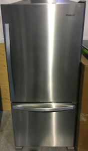 "NEW Whirlpool bottom mount 30""W x 67""H x 27.5""D $999"