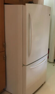 GE fridge,  and over range microwave