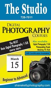 Basic Digital Photography Course 1-DSLR at The Studio