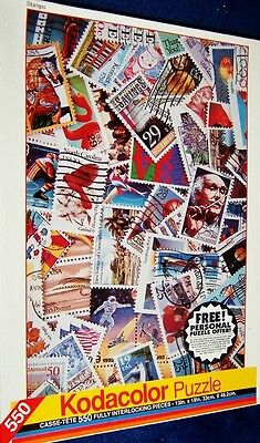 """RARE!! Kodacolor """"Stamps"""" 550 pieces by Rose Art: New, Sealed!"""