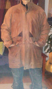 Genuine Leather WARM HEAVY winter coat!