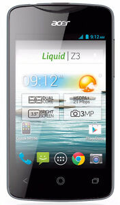 """Unlocked Acer Liquid Z3 3.5"""" 4GB Android Smartphone Z130 Dual-co"""