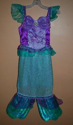 Disney Store Ariel The Little Mermaid Costume Dress Girls 5/6 Small](Disney Store Little Mermaid Costume)
