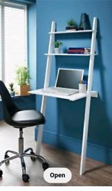 White ladder desk