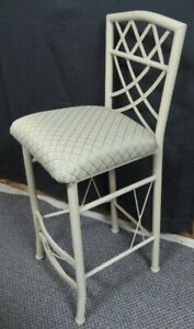 Brand New 4 Kitchen counter height chairs - cream/padded -