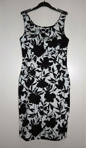 Suzy Shier Black and White Floral Print Dress BRAND NEW