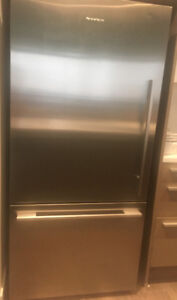 Stainless steel fridge and freezer