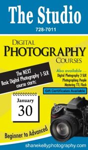 Basic Digital Photography Course at The Studio