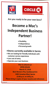 Become a Mac's  Independent Business  Partner!