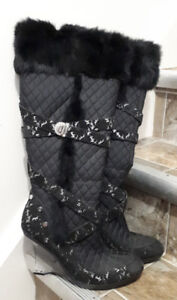 Pre-Owned Black Baby Phat Boots, Size 10
