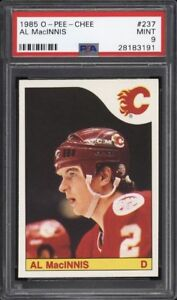 AL MACINNIS .... GRADED .... PSA MINT 9 .... ONLY ROOKIE CARD