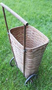 Antique rolling basket shopping cart London Ontario image 2