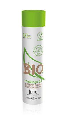 HOT BIO Massageöl Bittermandel - 100 ml Unisex Erotik