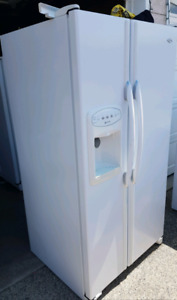 Both fridge with water and ice