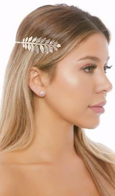 Metall Göttin Stirnband Blattgold Laurel Krone Griechisch Römisch Kostüm 997941