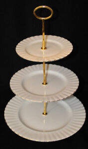 ROYAL ALBERT - VAL D'OR  TIERED CAKE STAND