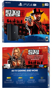 Playstation 4 Pro Red Dead Redemption 2 Brand New