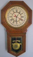 Antique Oak 1905 Sessions Chiming Regulator Eclipse Clock
