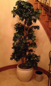 Beautiful 7' Tall Artificial Tree with Heavy Pot Base