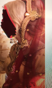 NEW Indian bridal lengha, dupatta and jewelry - Designer Quality