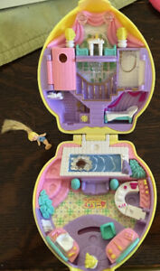 Vintage Polly Pocket Stylin Happenin' Hair 1995 & Polly Doll