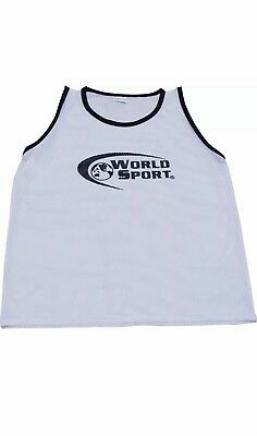 13557bcc8 Set 12 PRO QUALITY scrimmage vests pinnies YOUTH WHITE Soccer Football  training