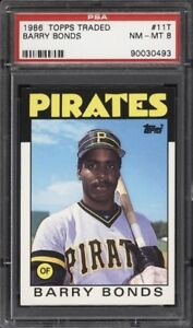 BARRY BONDS .... 1986 Topps Traded .... XRC .... PSA NM - MINT 8