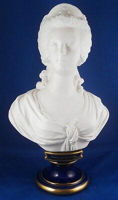 Antique 19thC Sevres Porcelain Marie Antoinette Figural Bust French Biscuit